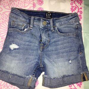 Gap distressed denim blue shorts